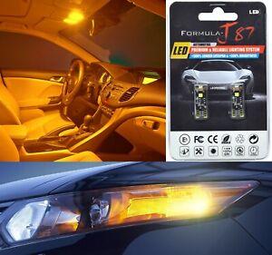 Canbus Error LED Light 168 Orange Amber Two Bulbs Front Side Marker Stock Lamp