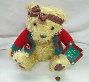 """New HALLMARK MERRY BEAR 12"""" PLUSH CHRISTMAS TEDDY BEAR Stuffed Toy NWT Plaid"""