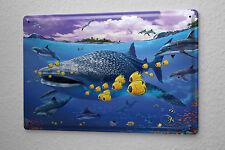 Tin Sign Kitchen Decor Whale shark dolphin rays