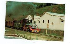 Vintage Railroad Train Post Card Brazilian State Railways VFCO Division in 1976