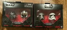 Star Wars Black Series Titanium helmets 01 and 02