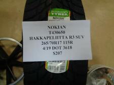 1 NEW NOKIAN HAKKAPELIITTA R3 SUV 265 70 17 115R TIRE W LABEL T430650 Q9