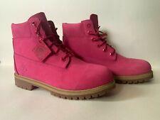 "Timberland Girls 6"" Premium Pink Waterproof Boots Size 7"