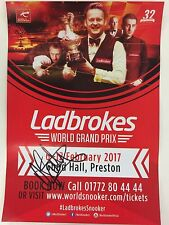 Snooker ladbrokes WORLD GRAND PRIX Flyer 2017. firmato da David Gilbert.