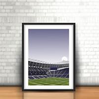 New White Hart Lane Stadium Art Print, Tottenham Inspired Football Minimalist