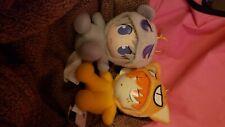 Fruits Basket Kyo in Cat costume and Yuki in rat custume. Plush figures.
