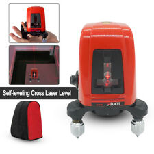AK435 360 Degree Self-leveling Cross Laser Level 2 Line 1 Point Measure Tool+Bag