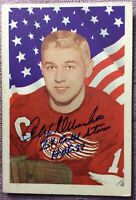 SIGNED 1963-64 PARKHURST #50 ALEX DELVECCHIO INSCRIBED 2X ALL STAR/HOF 77~EX+/NM
