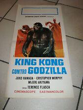 LOCANDINA KING KONG CONTRO GODZILLA J.HAMADA,T.FLASCH SCI-FI
