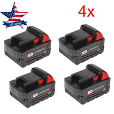 4Pack 18V 5.0Ah Li-ion Rechargeable Battery for Milwaukee M18 M18B 48-11-1852