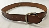 Aeropostale Women's Brown Leather Western Belt Size Medium