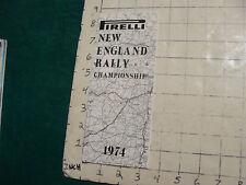Vintage High Grade Brochure: Pirelli New England Rally championship 1974