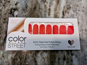 Color Street Coral Coast Nail Polish Strips Retired Unicorn Resealed Partial Set