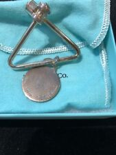 NEW. TIFFANY & CO PALOMA PICASSO STERLING SILVER KEY RING W POUCH, BOX, & PAPERS