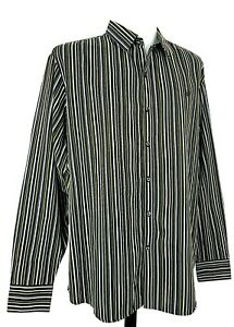 "SEAN JOHN Mens Brown L/S EVENING DRESS SHIRT - 3XL (2XL) - 50"" - 19.5"" - RRP £99"