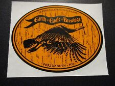 EARTH EAGLE BREWINGS orange portsmouth STICKER decal craft beer brewery brewing