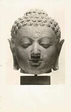 Postcard Head of a Buddha Javanese Late 8thC Cleveland Museum of Art Rppc Unused