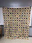 Vintage+Hand+Sewn%2FMachine+Sewn+Star+Pattern+Quilt+Top
