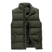 Men's Cotton Down Puffer Gilet Vest Body Warmer Waistcoat Padded Jacket Outwear