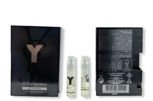 YVES SAINT LAURENT Y LE PARFUM Spray Vials 1.2ml/.04oz x 2