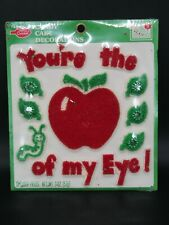 Vintage Betty Crocker Candy Icing Cake Decoration You're the Apple of My Eye!
