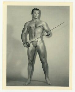 Bruce Of LA 1950 Original Photo Gay Physique Beefcake Nude Male Handsome Q7301