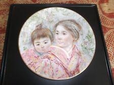 Royal Doulton 1974 Collector's Plate #2 Edna Hibel Sayuri And Child, Ltd Edition