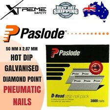 Paslode Galvanised Pneumatic Nails Hot Dip Diamond Point 50mm x 2.87mm Nail Gun