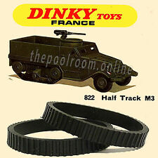 FRENCH DINKY TOYS NO.822 M3 HALF-TRACK TRACKS - 12 PAIRS (24 TRACKS)