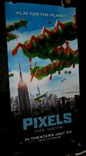 "Original PIXELS Styrene 26"" X 50""  D/S Phone Booth Poster CENTIPEDE OVER LONDON"