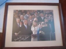 "PRESIDENT G. W. BUSH INAUGUR. PHOTO SIGNED BY REP. TOM DAVIS -15"" X 12"" FRAMED"