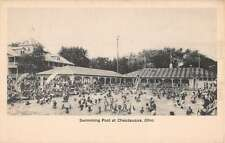 Chautauqua Ohio Swimming Pool Scene Antique Postcard K42308
