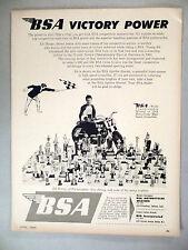 BSA Motorcycle PRINT AD - 1965 ~~ Ed Moran, Moto-Cross ~~ B.S.A.