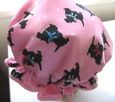 CHILD  SATIN SHOWER CAP TOO CUTE WATER PROOF  scotty  Westie  dogs  COLOUR BOWS