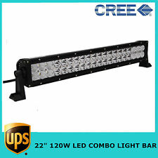 "22"" 120W LED LIGHT BAR SPOT FLOOD COMBO BEAM CREE BOAT DRIVING Toyota SUV JEEP"