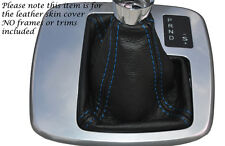 BLUE STITCH AUTO AUTOMATIC LEATHER GEAR GAITER FITS FORD MONDEO MK4 IV 07-14