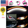 "US 60cm 24"" Silicone Flexible LED Light Strip Switchback DRL Turn Signal White"