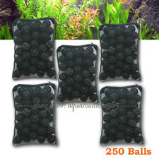 "Aqua365 250pcs Aquarium 1"" Bio Balls w/Sponge Filter Media 4 Koi Fish Pond Reef"