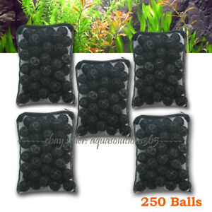 "250 pcs Aquarium 1"" Bio Balls w/Sponge Filter Media for Koi Fish Pond Reef"