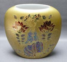 Rosenthal,Scheherazade,Björn Wiinblad,handgemalt, Studio Line,Vase,gold, 21,5 cm