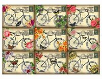 Antique Bicycles Glossy Finish Card Topper - Crafts Embellishment