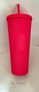 Starbucks Barbie Pink Studded Tumbler 710mL / 24oz Travel Cold Cup NEW NO BOX