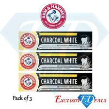 Arm & Hammer Toothpaste Charcoal White Activated Removes 100% Surface Stains x 3