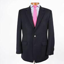 Izod Mens 42L Navy Blue Wool Antique Nickle Button Blazer Sport Coat 395