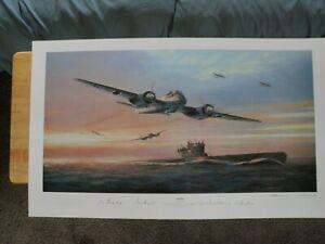 KAMERADEN  ARTIST MARK POSTLETHWAITE SIGND BY 2U-BOAT CMDRS 2 JU-88 PILOTS W/COA