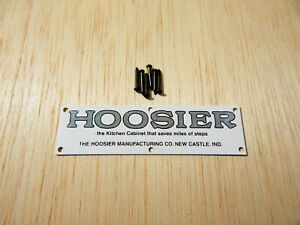 Hoosier Saves Steps Kitchen Cabinet Label White With Black Lettering