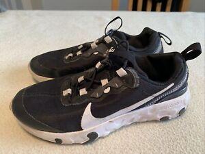 Junior Nike Renew Slip On Black Trainers Size Uk 3