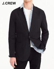J.CREW 40S Ludlow blazer cotton linen black suit jacket unstructured slim 40 S
