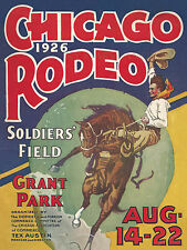 Chicago Rodeo Grant Park Soldier Field 1926 Rodeo Print Poster
