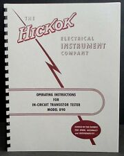 Hickok 890 In-Circuit Transistor Tester Manual